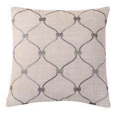 Embroidered Trellis Throw Pillow