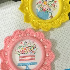 Tudo Simples e Decorado: Molduras de Crochê