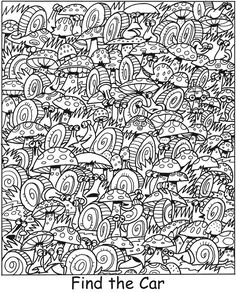 SPARK Things That Go Find It! Color It! -- 5 sample pages with answers