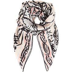 EMILIO PUCCI Silk square scarf in Nude