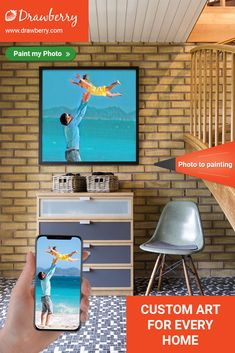 Drawberry lets you find a talented artist to turn your photo to painting and order artwork for home or office use. Get canvas art for less. Paint My Photo, Family Painting, Artwork For Home, Cherished Memories, Best Artist, Custom Art, Family Photos, Canvas Art, Diy Projects