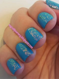 My Nail Journey: Blue Me Away! by Sally Hansen and Shine of the TImes Tape Mani