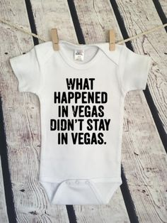 e76d5eb20 What Happened in Vegas Stay Oops Snarky Funny Pop Culture Hipster Cute  Funny Adorable Baby Onesie Romper Gift Free Shipping