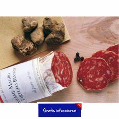 Salami zeichnet sich durch ihr edles Trüffelaroma aus. Hier klicken: http://blogde.rohinie.com/2013/01/wurst/ #Italien #Toskana #Trueffelsalami #Falorni