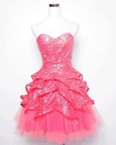 betsey johnson sequin dress: I like the underskirt with the tulle.then maybe collaged lace and shredded cotton on top? Pink Sparkly Dress, Little Pink Dress, Pink Sparkles, Pink Bling, Pink Sequin, Pink Glitter, Black Sequins, Jem And The Holograms, Betsey Johnson