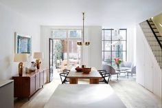 Dining Room - Open Place - Kitchen Ideas - Notting Hill - Modern Townhouse - Home Design Notting Hill, Decoration Inspiration, Interior Design Inspiration, Home Interior Design, Modern Townhouse Interior, Design Ideas, Oak Dining Table, Dining Area, Dining Room