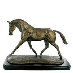 Trotting Warmblood Cold Cast Bronze Sculpture by Harriet Glen
