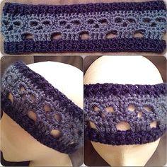 Crocheted skull headband/ear warmer