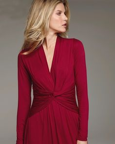 A criss -cross top works on any shape. And I LOVE that color!