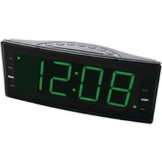 1 - Easy-Read Dual Alarm Clock with Jumbo Display & USB Charger, Jumbo high-contrast LED display, FM radio with digital preset memory, 2 independent alarm timers Radios, Radio Online, Digital Clock Radio, Charger For Sale, Internet Radio, Consumer Electronics, Display, Easy, Everything
