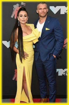 Just days after Jenni Farley dumped Zack Carpinello in very public fashion, the Jersey Shore couple is officially back together. Jenni Farley, Image Categories, Celebrity Couples, Jumpsuit, Sari, Formal, Celebrities, Public, Dresses