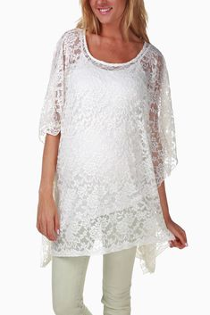 White-Lace-Maternity-Blouse