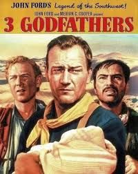 3 Godfathers ~ Starring John Wayne, Harry Carey Jr. and Pedro Armendariz ~ A sentimental tale of 3 bandidos with hearts of gold, completing a promise they made to a dying woman to take care of her baby.  Well written and lovingly made ~ good old-fashioned entertainment as these heroic good/bad men are chased by the sheriff and his posse across the desert, with a Bible as their map.