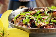 Sticky grilled peanut and lemongrass chicken