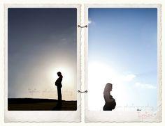maternity silhouette shots