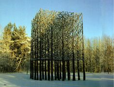 twig sculptures by Finnish artist Jakko Pernu