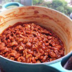 Receita de chili com carne