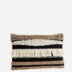 Madam Stoltz - Poszewka na poduszkę Lovely Shop, Chenille, Boho, Copenhagen, Fashion, Side Fringe, Textiles, Pillows, Get Tan