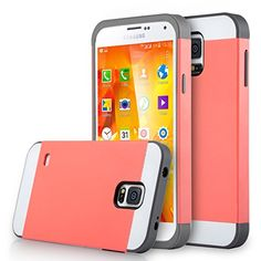 Galaxy S5 Case, ULAK Samsung Galaxy S5 Case - 2in1 Hybrid Dual Layer Protective Case Cover (Plastic Hard Shell and Fexible TPU) Shock-Absorption / Impact Resistant Slim Case for Galaxy S5 / Galaxy SV / Galaxy S V / Galaxy i9600 2014 (Coral Pink/Gray) ULAK http://www.amazon.com/dp/B011B8DNXA/ref=cm_sw_r_pi_dp_tzEcwb0WBWJ2V