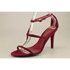 Lauren Ralph Lauren Aida Womens Size 7.5 Red Textile Dress Sandals Shoes UK 6 #LaurenRalphLauren #Strappy