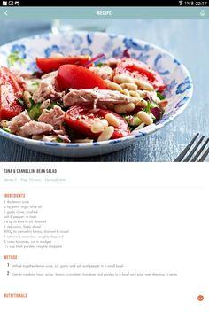 Food N, Good Food, Food And Drink, Yummy Food, 28 By Sam Wood, Cannellini Bean Salad, Clean Eating, Healthy Eating, Dash Diet