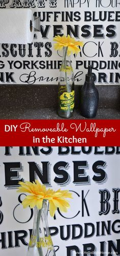Learn how to hang DIY Removable Wallpaper in the kitchen or anywhere in your home! | Hello Little Home