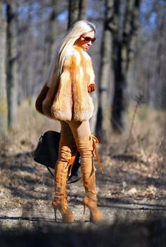 Haughty boots and fur