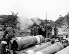 Korean War | An 8-inch howitzer of Battery B, 720th Field Artillery Battalion…