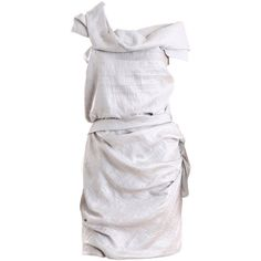 Roksanda ilincic dresses SILVER (16.430.890 VND) ❤ liked on Polyvore featuring dresses, vestidos, vestiti, ilincic, roksanda, silver, ruffle front dress, roksanda ilincic, textured dress and silver dresses