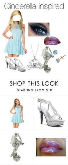 """Cinderella Disney Bound"" by atl-rock-chick-r5 ❤ liked on Polyvore featuring Dyeables and Disney"