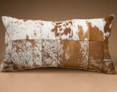 """Genuine Western Cow Hide Patch Work Pillow 33"""""""" (wp16)"""