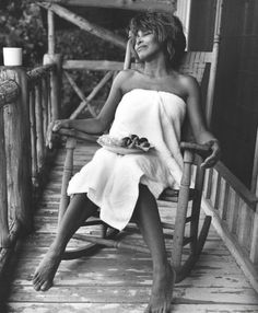 The Women that Inspire Us >> Tina Turner by Bruce Weber for Interview Magazine. Tina taking some R and R.she's beautiful no matter where she is or what she's wearing. Tina Turner, Bruce Weber, Herb Ritts, Female Singers, What Is Love, Rock And Roll, Interview, Celebs, Black Celebrities
