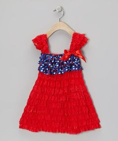 Take a look at this Red Cap-Sleeve Dress - Infant, Toddler & Girls by Royal Baby by Royal Gem Clothing on #zulily today!