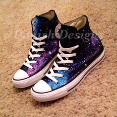 75045db6533d Custom Painted Galaxy Converse Shoes by DonishDesigns on Etsy