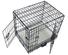 Cool Runners Tall Boy Medium Wire Pet Crate 25 x 19 x 22 With Bonus Faux Sheepskin Mattress -- Check out the image by visiting the link. (This is an affiliate link) Me And My Dog, Just For You, Dog Cages For Sale, Xxl Dog Crate, Wire Dog Crates, Clever Dog, Tallest Dog, Cat Cages, Huge Dogs