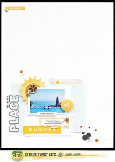 #papercrafting #scrapbook #layout - Tuesday Tutorial with Janine Langer