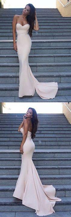 Decent Mermaid Sweetheart Sleeveless Sweep Train Ivory Prom Dress prom,prom dress,long prom dress,mermaid prom dress,sweep train prom dress,2017 prom dress