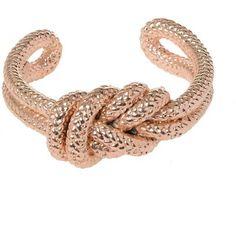 Jil Sander Bracelets ($180) ❤ liked on Polyvore featuring jewelry, bracelets, pink, pink jewelry, pink bangles, jil sander, knot jewelry and knot bangle