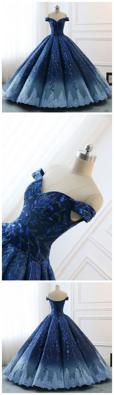 High Quality 2018 Chic Ball Gonws Off-the-Shoulder Ombre Prom Dress Blue Shade Sequins Women Bride Gown Formal Dresses prom dresses prom dresses,prom dresses unique,prom dresses elegant,prom dresses vintage,prom dresses fashio Ombre Prom Dresses, Gorgeous Prom Dresses, Unique Prom Dresses, Blue Bridesmaid Dresses, Elegant Dresses, Pretty Dresses, Vintage Dresses, Vintage Prom, Dress Prom