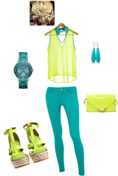 bright summer3, created by jennasims38 on Polyvore