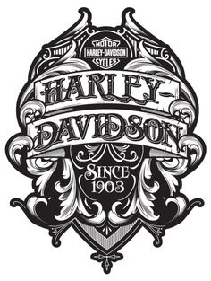 Betype - Typography & Lettering Inspiration — Recent & Semi Recent Type Treatments by Joshua M. Harley Davidson Logo, Harley Davidson Kunst, Harley Davidson Tattoos, Harley Davidson Wallpaper, Harley Davidson Motorcycles, Harley Tattoos, Biker Tattoos, Motorcycle Art, Bike Art