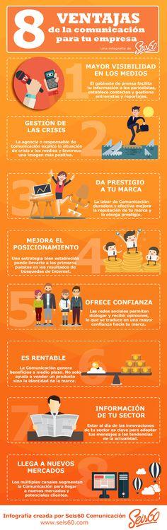 8 Ventajas de la comunicación para la empresa  #infografía #infographic #marketing