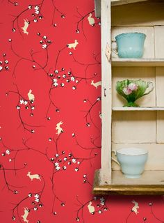 I love this wallpaper.  Check out her website-  Grow House Grow