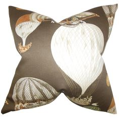 Brice Brown Geometric 18-inch Feather Filled Throw Pillow - Overstock™ Shopping - Great Deals on Throw Pillows