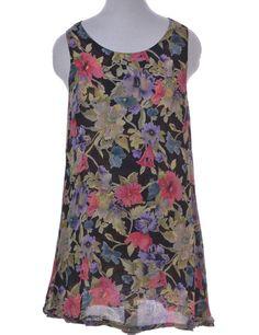 Vintage Beyond Retro Label Short Dress Multi-colour With A Round Neck | Beyond…