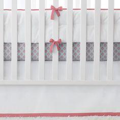 Nursery Basics Punch with Aqua/Melon Mosaic crib sheet | Serena & Lily