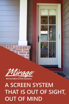 Mirage is a high quality screen system that is out of the way until you need it! Built with a sleek design to blend in with your home and provide ongoing protection from insects so you can enjoy fresh air in your home year after year. Retractable Screen Door, Screen Doors, Insects, Garage Doors, New Homes, Exterior, Windows, Fresh, World