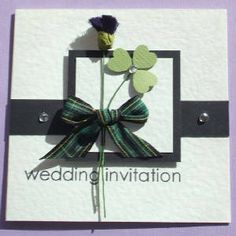 Scottish Irish Wedding Invitation Wonder If I Could Do This For A Welsh Theme