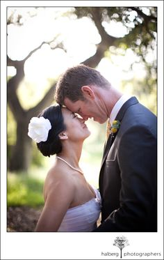 wedding portraits - bride and groom at elings park santa barbara