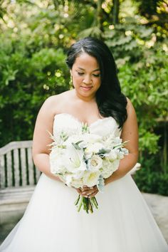 Pretty bouquet: http://www.stylemepretty.com/california-weddings/2015/05/04/sparkling-gold-wedding-at-hartley-botanica/ | Photography: Onelove - http://www.onelove-photo.com/